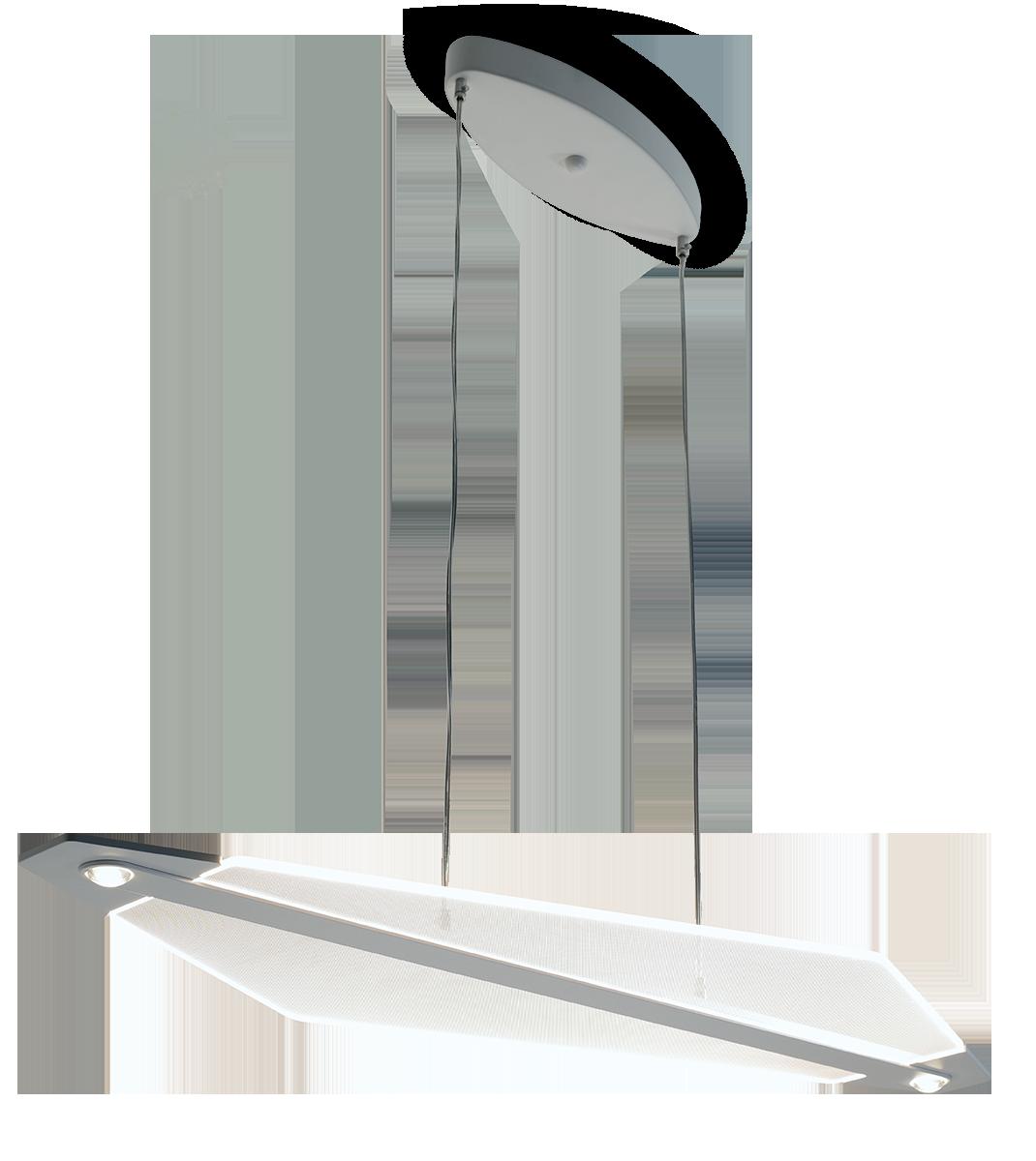 Sospensione LED in metacrilato inciso